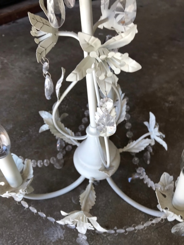 White/cream uplight chandelier b977259a-65a2-436d-a7dc-2ad25c002782