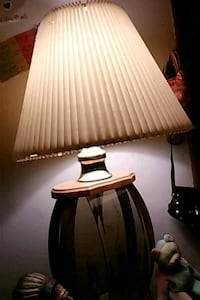 white and black table lamp 22 km