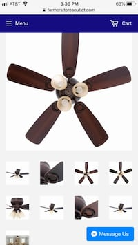 black and gray 5-blade ceiling fan Farmers Branch, 75234
