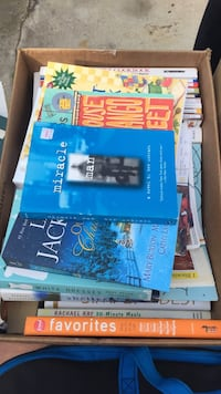 novel book collection with brown cardboard box Madison, 53704