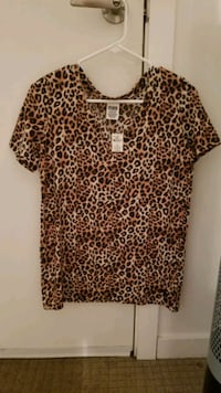 Animal print shirt from PINK Vancouver, V6C 3T3