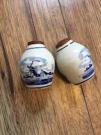 Vintage salt and shakers