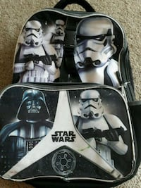 black and white Star Wars print backpack Norfolk, 23502