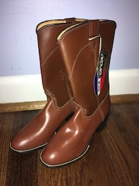 pair of brown leather cowboy boots Arlington, 22202