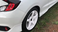 """Refinished 18"""" Enkei White rims and tires just refinished with new rubber. Selling freshly refinished powder coated white Enkei 18"""" rims with Michelin Pilot Sport 245/40ZR18, rubber is practically brand new. Ran the rims for approximately 5 days on a 2018 Surrey, V3S 9A5"""