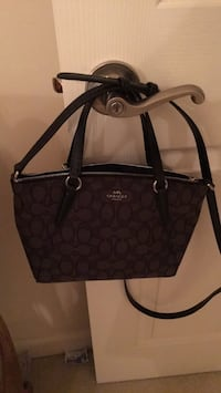 monogrammed brown Coach leather tote bag Downers Grove, 60515