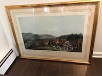 antique picture with horse scenery with a gold frame Marlboro, 07746