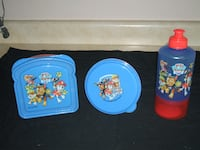 Paw Patrol 3 Piece Lunch Pack - Red (Or 2 Sets For $18) Surrey