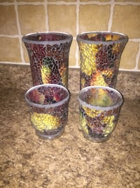 Mosaic candle holders - four pieces - $10 Hagerstown, 21740