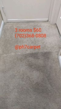 Carpet cleaning. 3 rooms $60 North Las Vegas