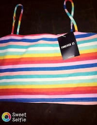 white, blue, and red striped tote bag Dayton, 45405