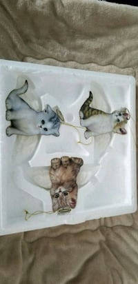 Bradford Exchange 1st edition Angel cat ornaments