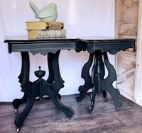 Black Side Tables with Wheels  Peterborough, K9H 6B8