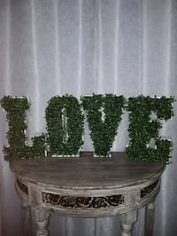 LOVE MARQUEE LETTERS With Boxwood  Vaughan