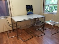 rectangular glass top table with four chairs Cambridge, 02140