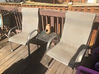 Two chairs, perfect for summer days/night on the deck! Price is firm! Germantown, 20876