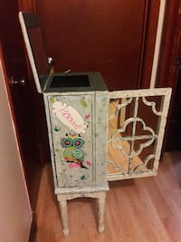 Vintage jewelry box about 3 ft tall