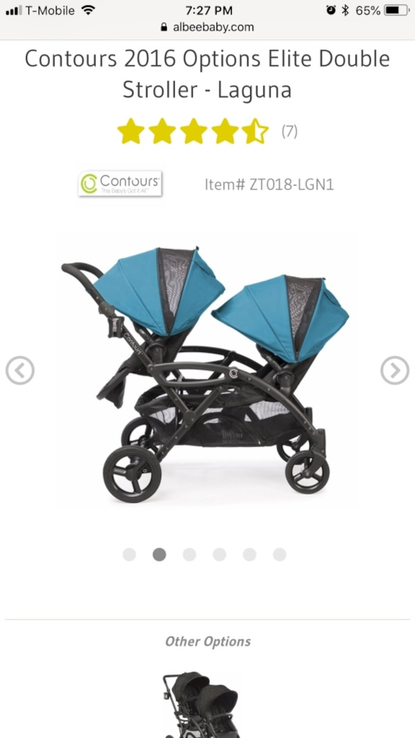 Double stroller convertible and Options Elite original price $399 8b1caa76-a990-4be0-8456-0d1a245702b7