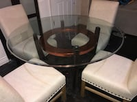 Macy's Glass Dining Room Table - copper ring Mount Laurel, 08054
