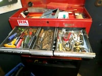 red and black metal tool box Jackson, 49201