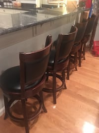 """Bar stools 24"""" to black leather swivel seat price is for each stool qty 4 like new Bayville, 08721"""