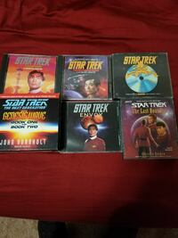 6 Star Trek Audio book CD sets. Norman, 73072