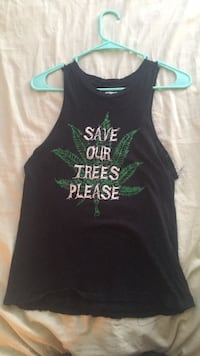 """Save Our Trees Please"" XS muscle tee Manassas, 20109"