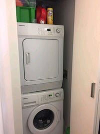 white front-load clothes washer Surrey, V3R 5X9