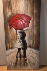 Red umbrella painting King, L0G 1T0