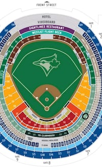 Front seats blue jay tickets. Saturday (orioles)  Brampton