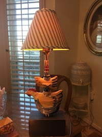 Hand Crafted Rooster Pottery Lamp by Heather Lane Pottery of Ada, Michigan El Paso, 79903