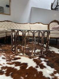 Beautiful glass top coffee table