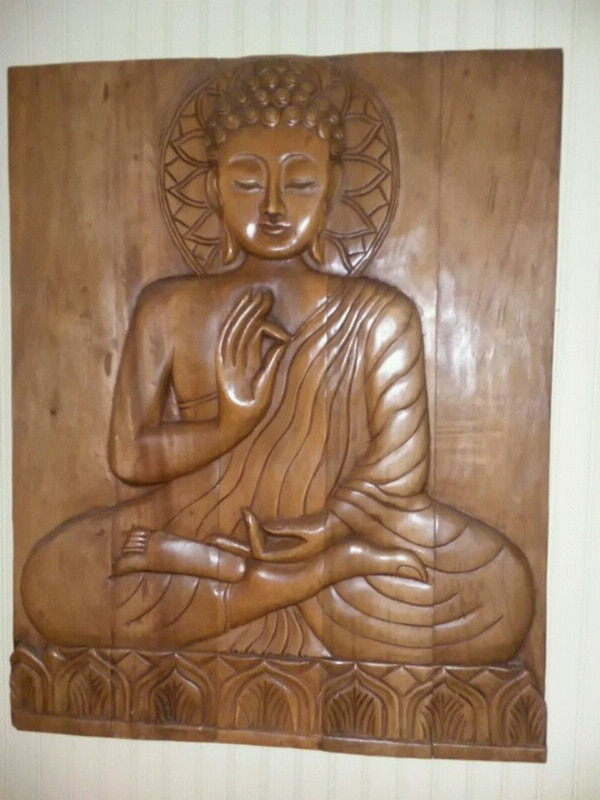 Wooden Hand Carved Siddhartha Buddhist Wall Art Price Negotiable