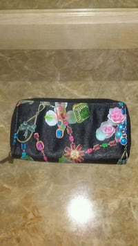 black, pink, and green floral wallet Turlock, 95380