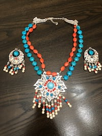 Semi precious stones Necklace and earrings Arlington, 22202