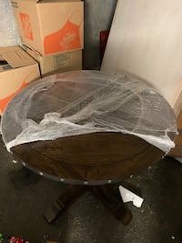 """42"""" Bar Height Distressed Wood Table"""