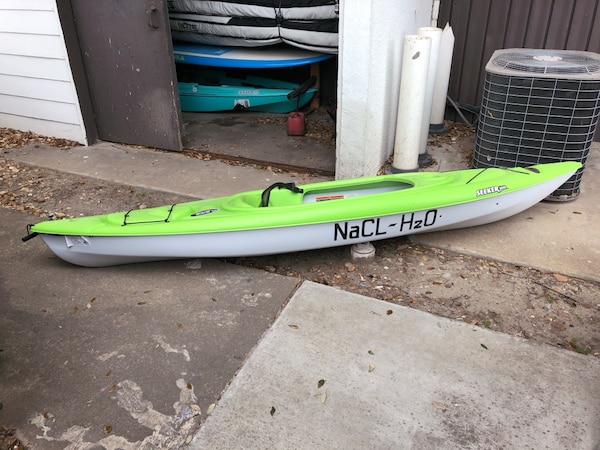 Used Neon Green 10ft Potomac Kayak Brand New Sit In For Sale In