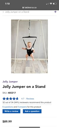 Jolly jumper on a stand Brampton, L6V 0R1