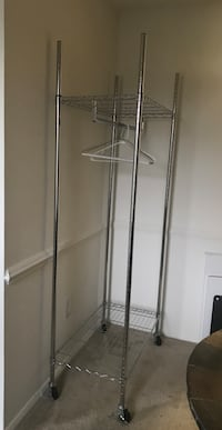 Extra-Wide Heavy Duty Garment Rack In Chrome Fairfax, 22031