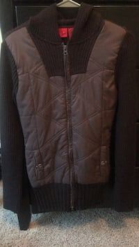 Brown zip-up bubble vest Cary, 27513