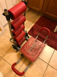 red and black stationary bike