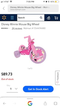 Disney Minnie mouse Big wheel Arlington, 22201