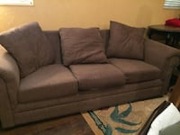 Brown 3 seat sofa Bessemer, 35023