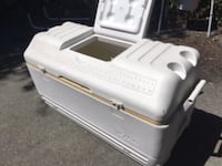 White and black plastic container Vancouver