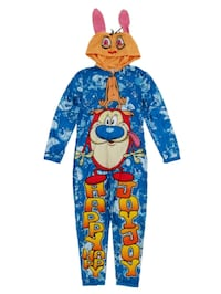 REN & STIMPY adult large One Piece Footless Pajamas onesie Happy happy Edmonton, T6X 1J9