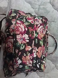 black, pink, and green floral backpack Corpus Christi