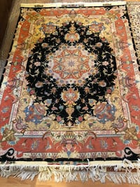 Persian handmade silk carpet Rug Port Moody, V3H 5L6