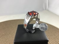 Size 11.5  Ruby Ring, 18k white gold filled Chesapeake, 23320