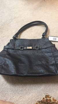 women's black leather shoulder bag Frederick, 21703