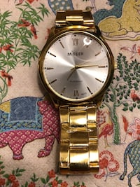 Brand new MiGEER Men's Round gold analog watch with gold link bracelet Bethesda, 20814